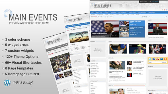 MainEvents WordPress Theme