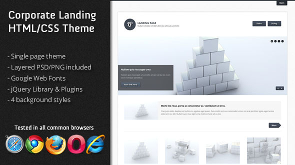 Corporate Landing Page HTML/CSS Theme